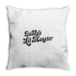 daddy's lil monster Throw Pillow | Artistshot