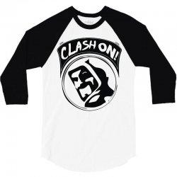 clash on! 3/4 Sleeve Shirt | Artistshot