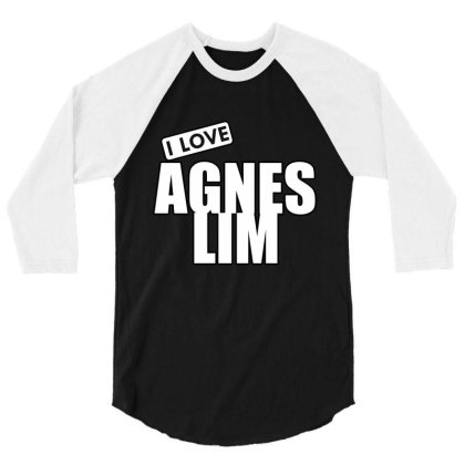 I Love Agnes Lim 3/4 Sleeve Shirt Designed By Word Power
