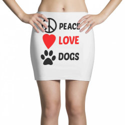 Peace Love Dogs Mini Skirts | Artistshot