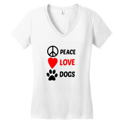 Peace Love Dogs Women's V-Neck T-Shirt | Artistshot