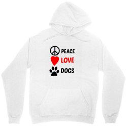 Peace Love Dogs Unisex Hoodie   Artistshot