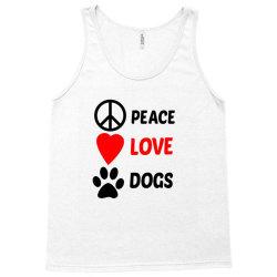 Peace Love Dogs Tank Top   Artistshot