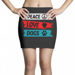 Peace Love Dogs Mini Skirts | Artistshot