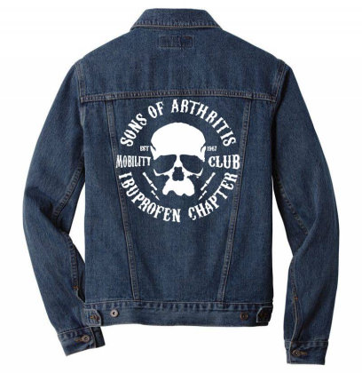 Sons Of Arthritis Funny Soa Parody Men Denim Jacket Designed By Toldo