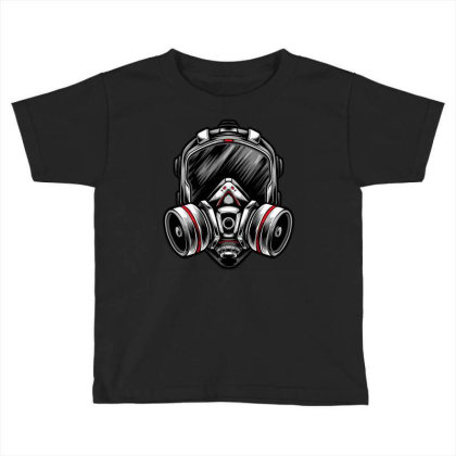 Futuristic Mecha Respirator Mask Toddler T-shirt Designed By Tariart