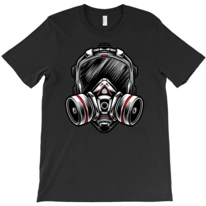 Futuristic Mecha Respirator Mask T-shirt Designed By Tariart