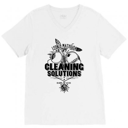 Cleaning Solutions V-neck Tee Designed By Monstore