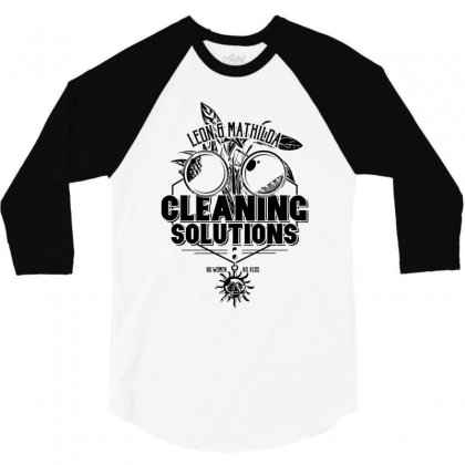 Cleaning Solutions 3/4 Sleeve Shirt Designed By Monstore