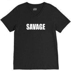 savage V-Neck Tee   Artistshot