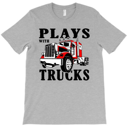 Plays With Trucks Family Matching T-shirt Designed By Lotus Fashion Realm