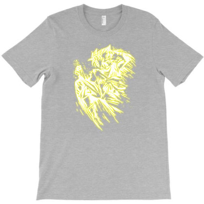 Songoku Fighter Gold T-shirt Designed By Lotus Fashion Realm