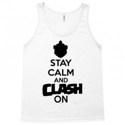 coc stay calm & clash on Tank Top | Artistshot