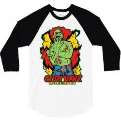 cody hawk 'wrestling dead zombie' 3/4 Sleeve Shirt | Artistshot