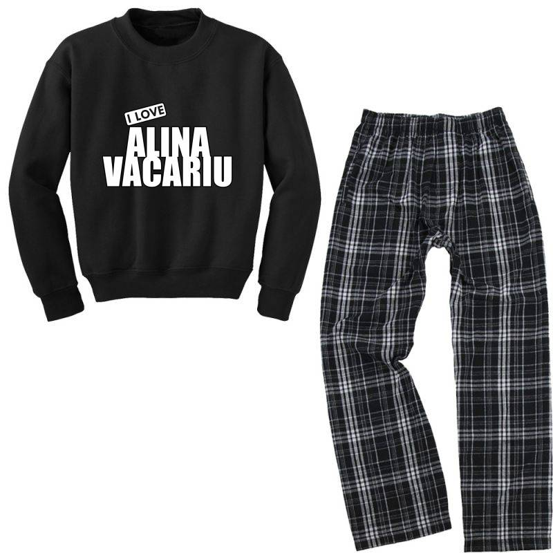 I Love Alina Vacariu Youth Sweatshirt Pajama Set | Artistshot