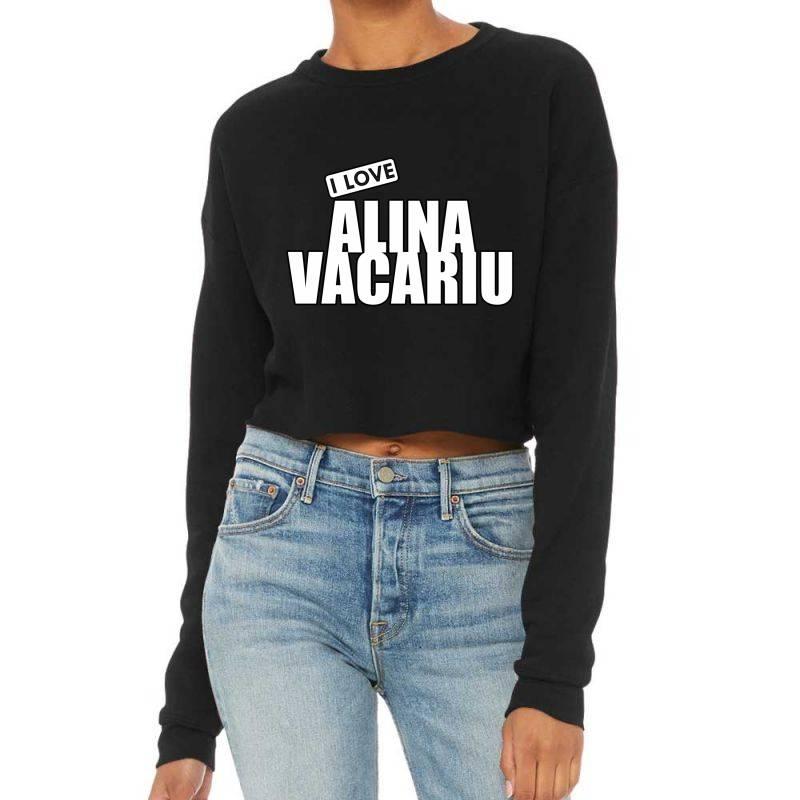 I Love Alina Vacariu Cropped Sweater | Artistshot