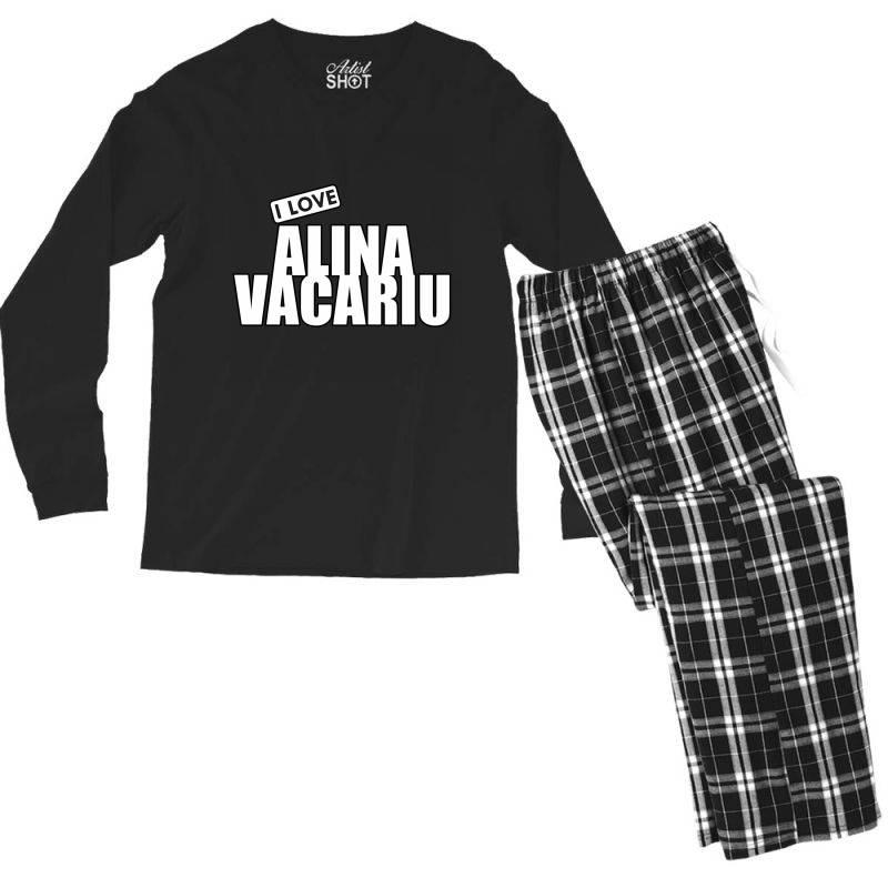 I Love Alina Vacariu Men's Long Sleeve Pajama Set   Artistshot