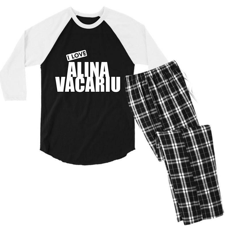I Love Alina Vacariu Men's 3/4 Sleeve Pajama Set | Artistshot