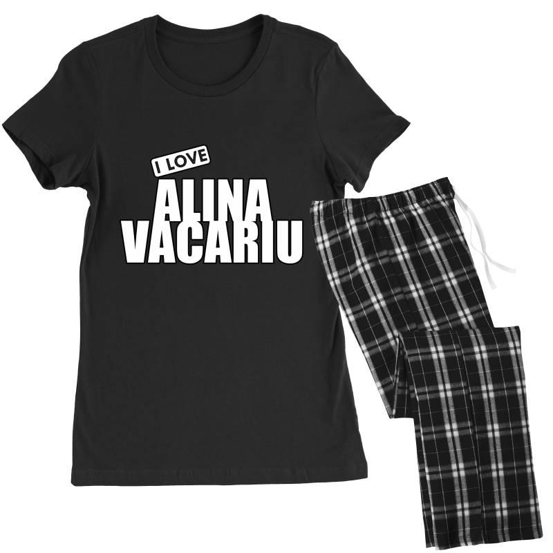 I Love Alina Vacariu Women's Pajamas Set   Artistshot