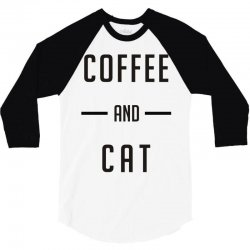 coffee and cat 3/4 Sleeve Shirt | Artistshot