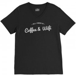 coffee and internet V-Neck Tee | Artistshot