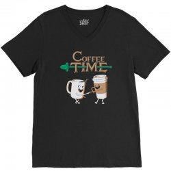 coffee time V-Neck Tee | Artistshot
