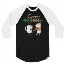 coffee time 3/4 Sleeve Shirt | Artistshot
