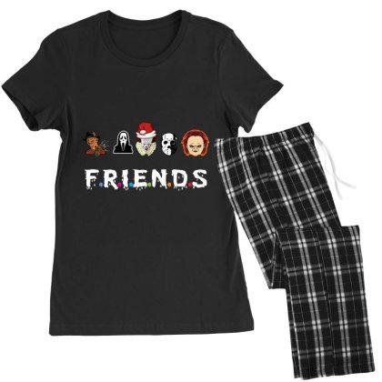 Merry Christmas Friends Women's Pajamas Set Designed By Rardesign