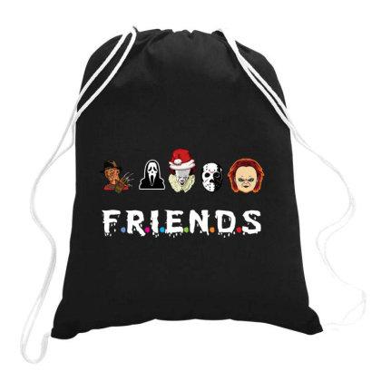 Merry Christmas Friends Drawstring Bags Designed By Rardesign