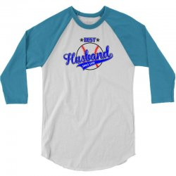 Best Husband Since 1958 - Baseball Husband 3/4 Sleeve Shirt | Artistshot