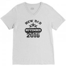 Dad To Be November 2016 V-Neck Tee | Artistshot