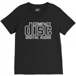 compact disc digital audio V-Neck Tee | Artistshot