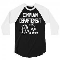 complaint 3/4 Sleeve Shirt | Artistshot