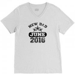 Dad To Be June 2016 V-Neck Tee | Artistshot