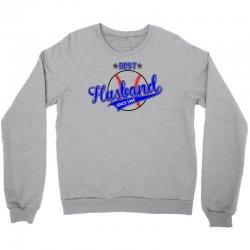Best Husband Since 1968 - Baseball Husband Crewneck Sweatshirt | Artistshot