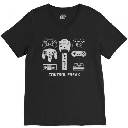 Control Freak V-neck Tee Designed By Monstore