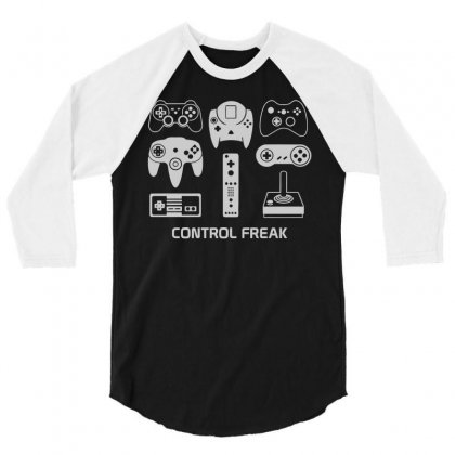 Control Freak 3/4 Sleeve Shirt Designed By Monstore