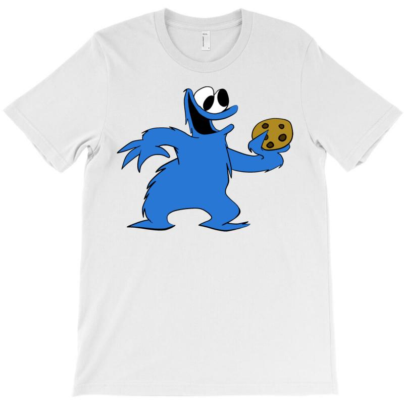 Cookie Monster And A Cookie T-shirt | Artistshot