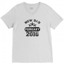 Dad To Be February 2016 V-Neck Tee | Artistshot