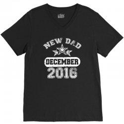 Dad To Be December 2016 V-Neck Tee | Artistshot