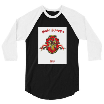 Belarus Original Merch 3/4 Sleeve Shirt Designed By Dizzytrina