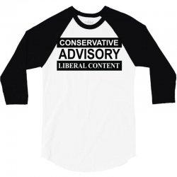 conservative advisory 3/4 Sleeve Shirt   Artistshot