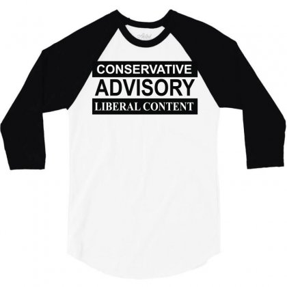 Conservative Advisory 3/4 Sleeve Shirt Designed By Monstore