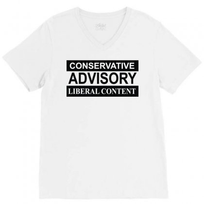 Conservative Advisory V-neck Tee Designed By Monstore