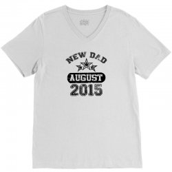 Dad To Be August 2016 V-Neck Tee | Artistshot