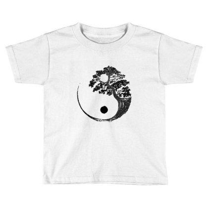 Yin Yang Bonsai Tree Japanese Buddhist Zen  T Shirt Toddler T-shirt Designed By Shadowart