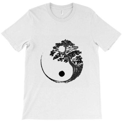 Yin Yang Bonsai Tree Japanese Buddhist Zen  T Shirt T-shirt Designed By Shadowart