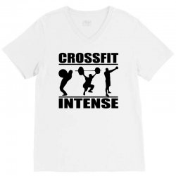 cool crossfit intense V-Neck Tee | Artistshot