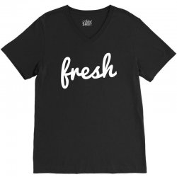cool fresh typography V-Neck Tee | Artistshot