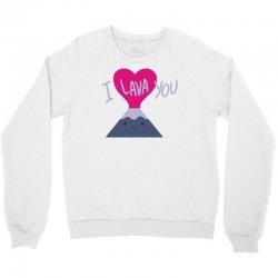 cool i lava you valentine's day Crewneck Sweatshirt   Artistshot
